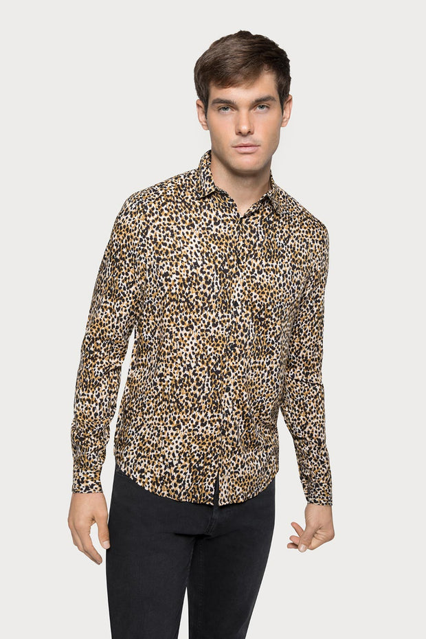 Animal Print Viscose Shirt