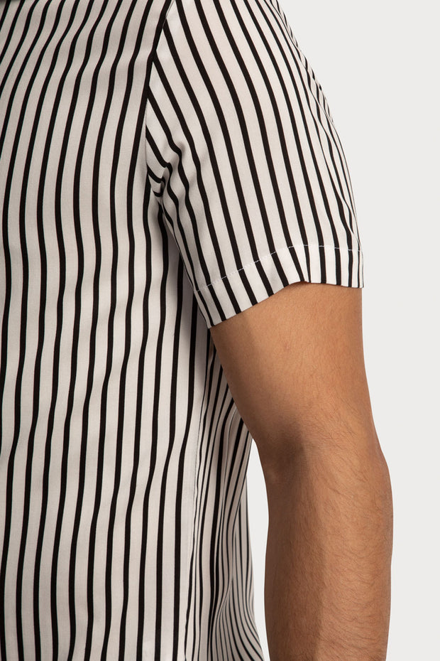Vertical Striped Viscose Shirt
