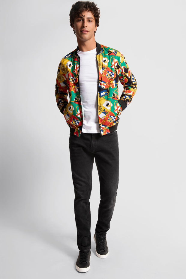 Geometric Bomber Jacket