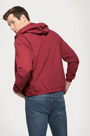 Burgundy Poplin Hooded Jacket