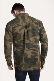 Camo Buttoned Shacket