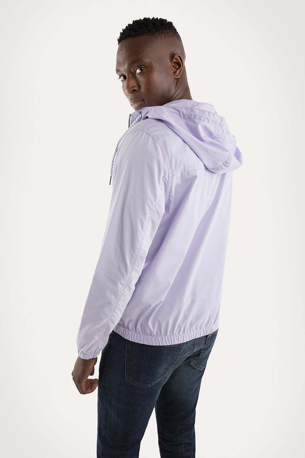 Lilac Hooded Jacket