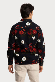 Red & White Floral Shacket