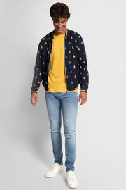 Navy Sailboat Bomber Jacket