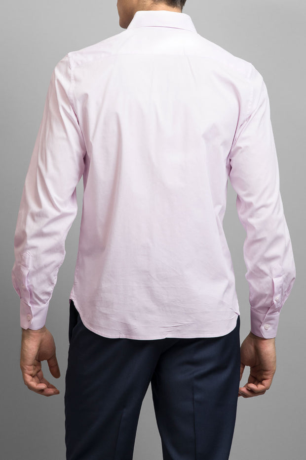 Pink Slim Fit Solid Dress Shirt