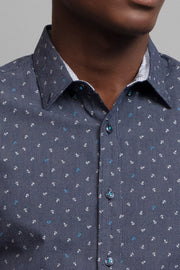 Anchor Print Dress Shirt