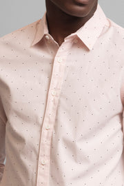 Light Peach Polka Dot Dress Shirt