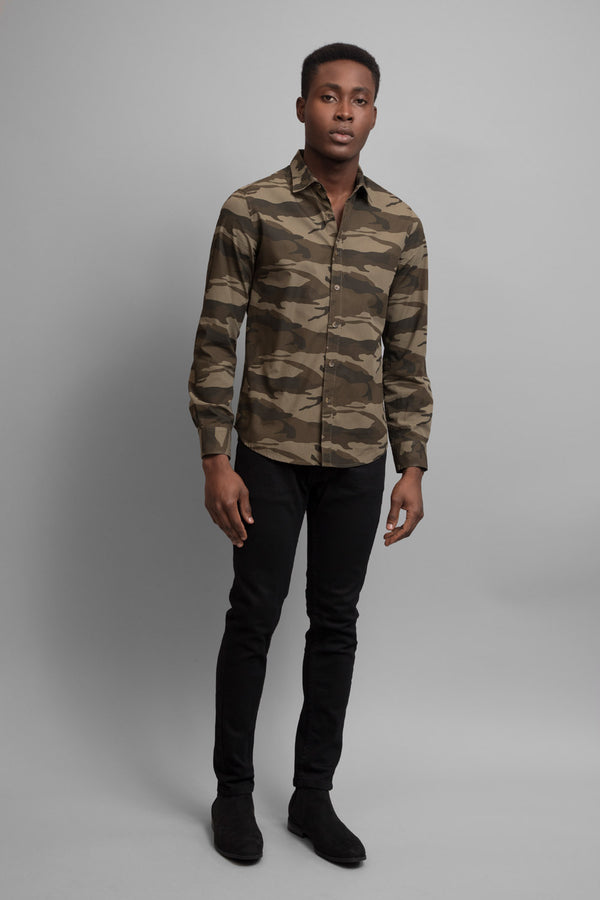 Camouflage Print Shirt