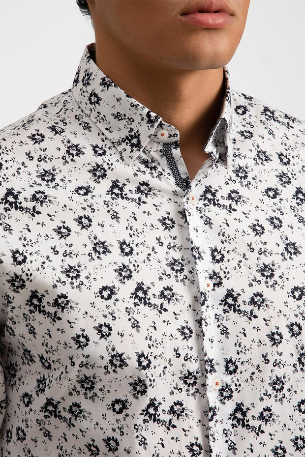 Black & White Floral Shirt