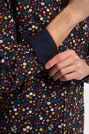 Multi Color Floral Poplin Shirt