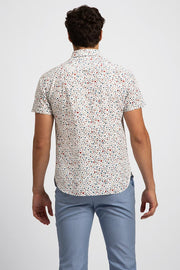 Micro Multi Color Floral Shirt