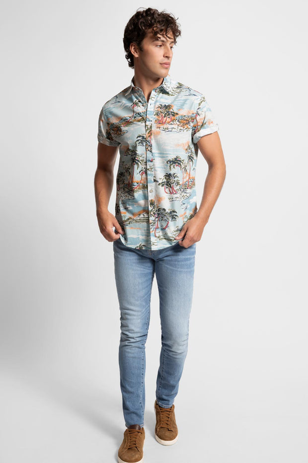 Tropical Island Printed Shirt
