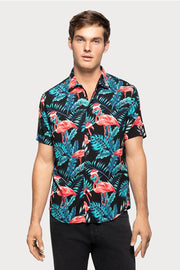 Holiday Flamingo Viscose Shirt