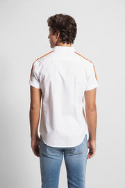 White Rainbow Trim Shirt