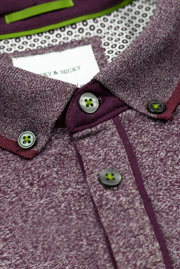 Burgundy Golf Polo Shirt