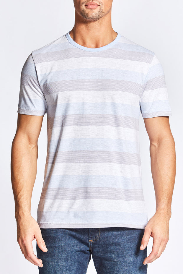 Light Blue Striped T-Shirt