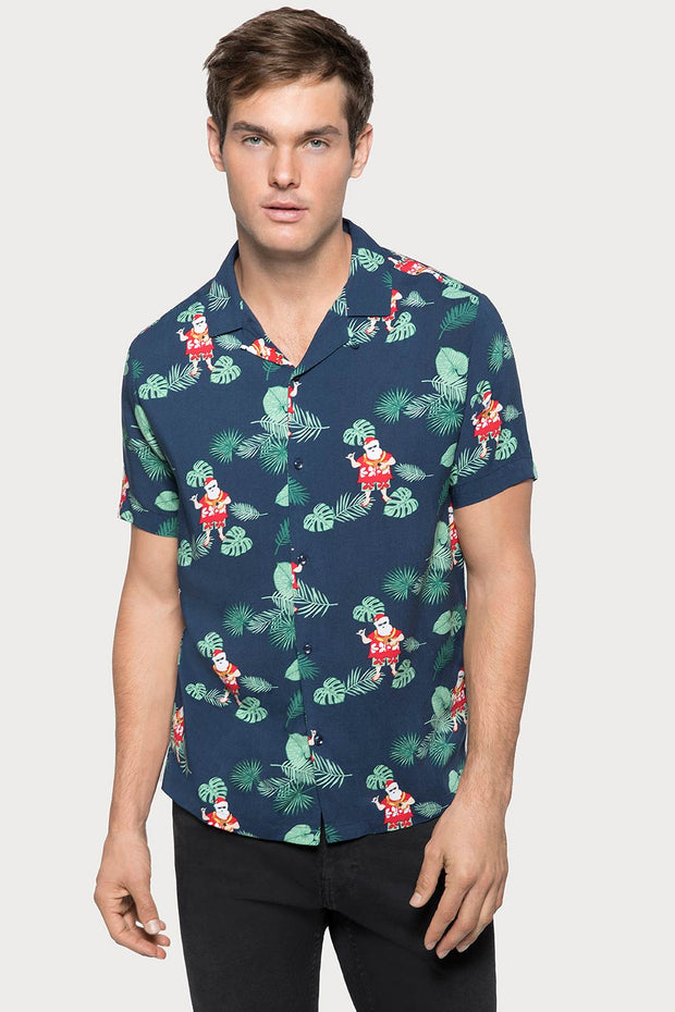 Tropical Santa Camp Viscose Shirt