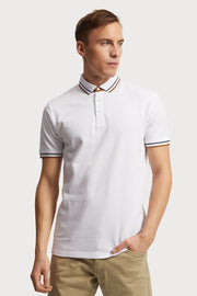 White Pique Cotton Polo