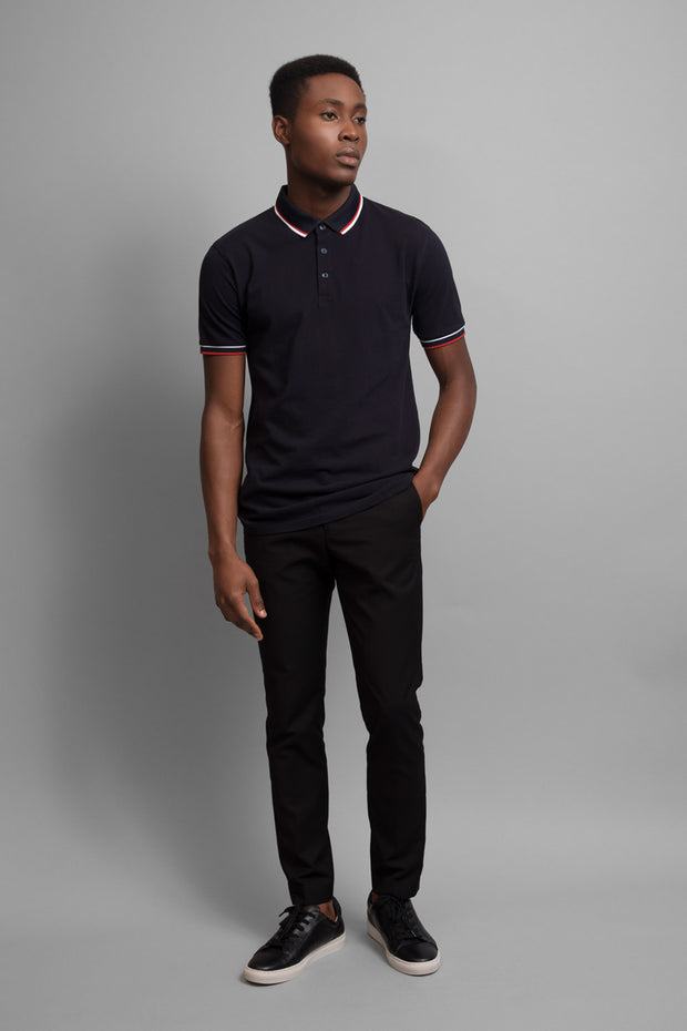 Dark Navy Pique Polo Shirt