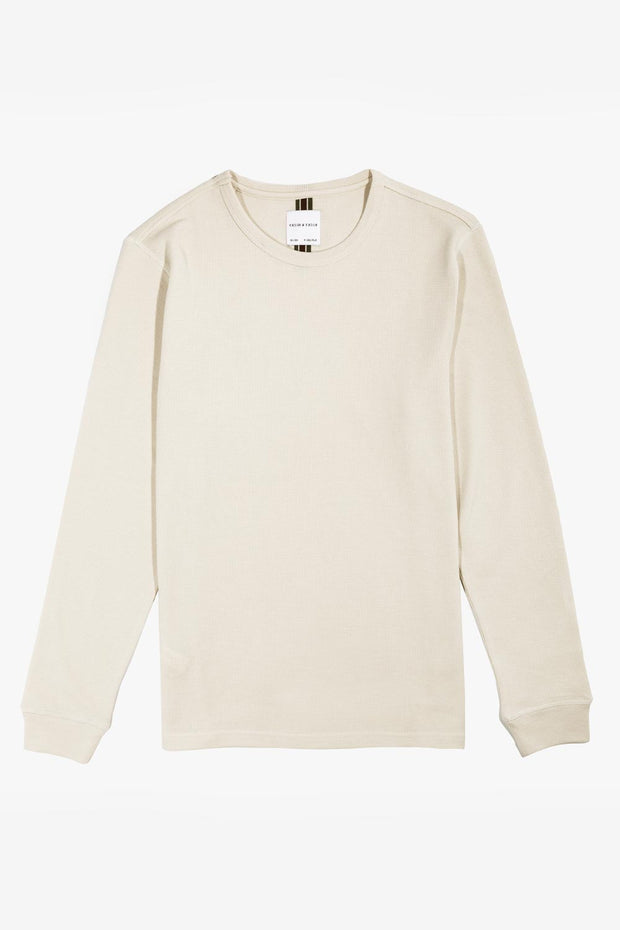 Cream Pullover Waffle Knit