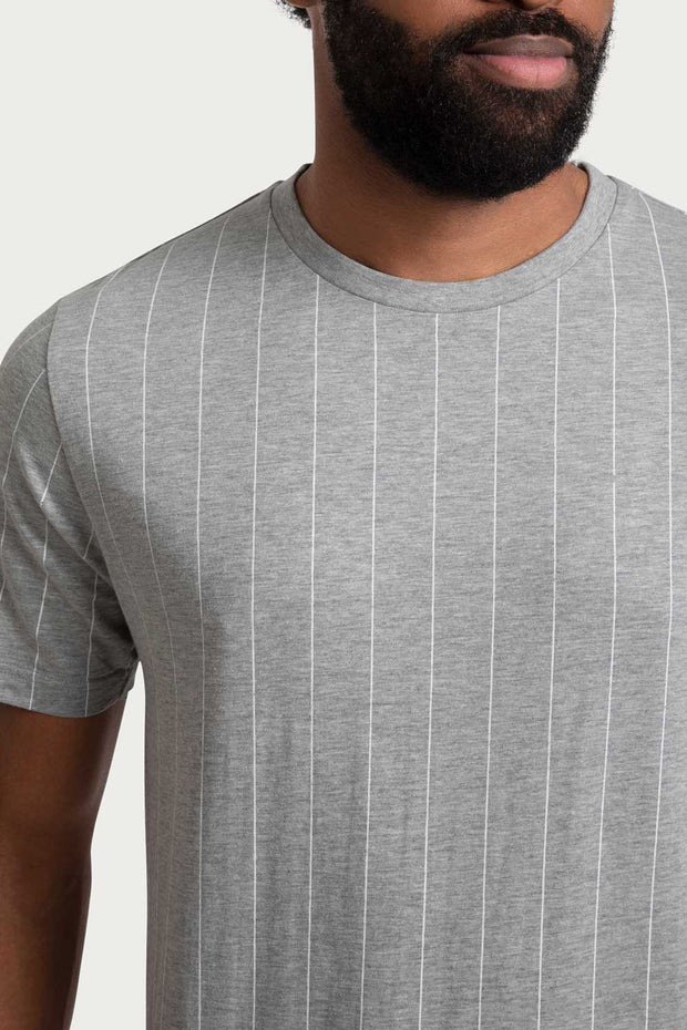 Grey Cotton Crew Tee