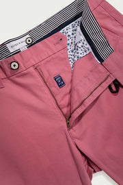 Rose Pink Cotton Twill Shorts