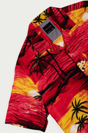 Sunset Palm Tree Viscose Shirt