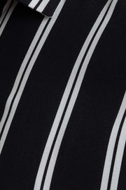 Striped Black Viscose Shirt