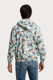 Floral Printed Hooded Jacket