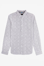 Black & White Floral Poplin Shirt