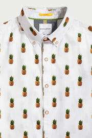 Pineapple Cotton Short Sleeve Shirt