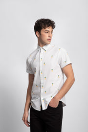 Polka dot Pineapple Print Shirt
