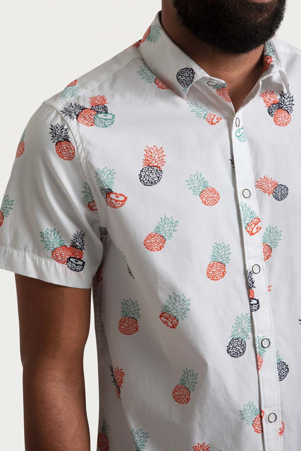 Pineapple White Poplin Shirt