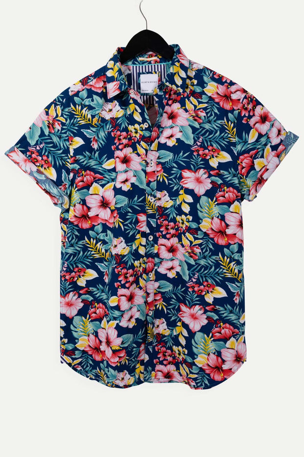 Multi Floral Poplin Cotton Shirt