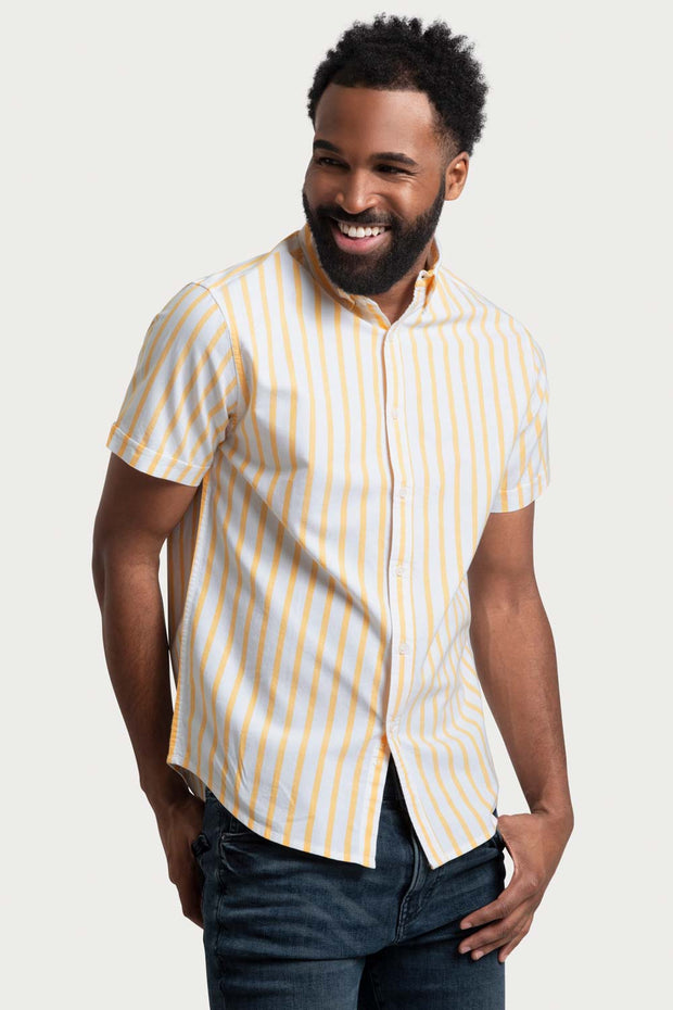 Yellow Striped Oxford Shirt