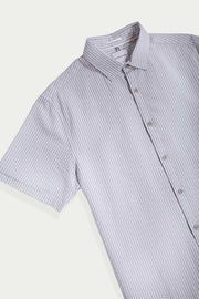 Gray Seersucker Pinstripes Shirt
