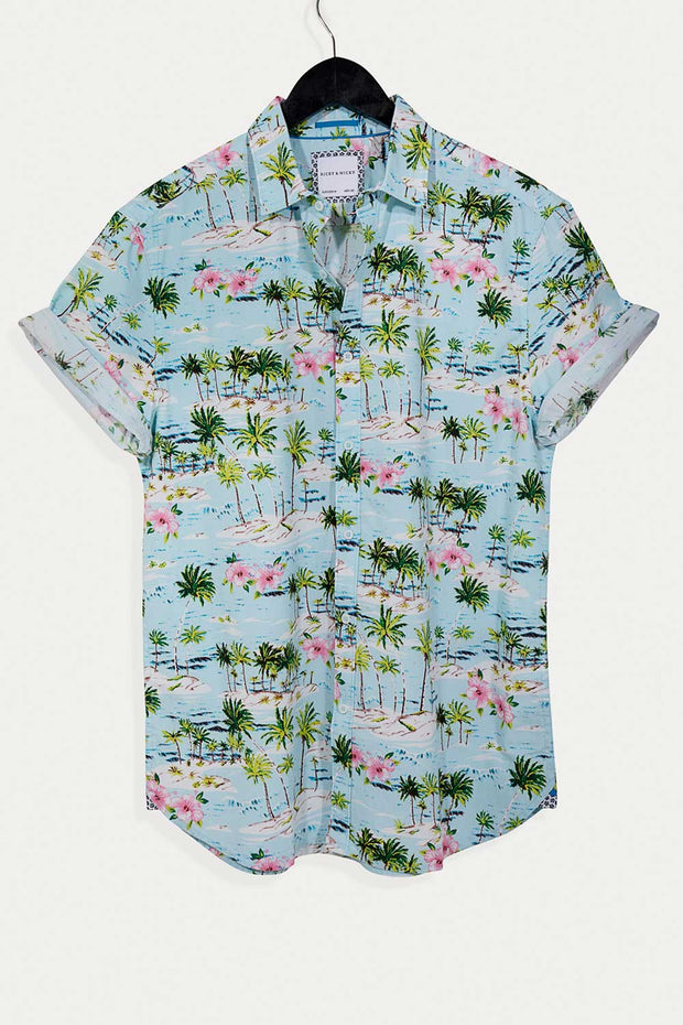 Island Print Cotton Shirt