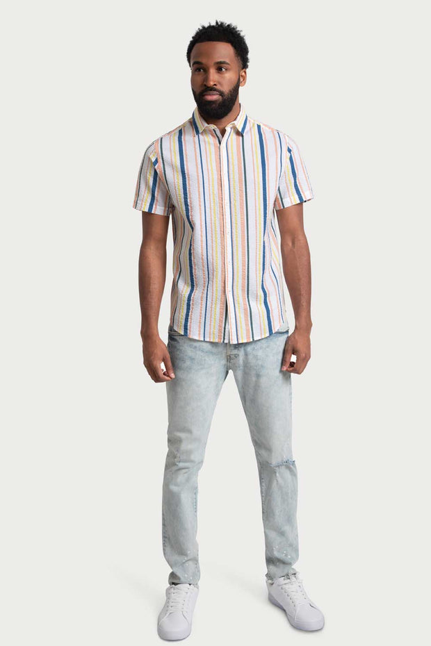 Multicolored Stripe Cotton Shirt