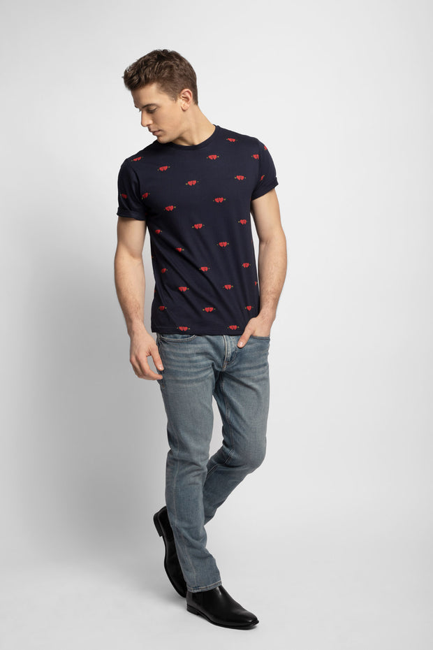 Navy Heart & Arrow T-Shirt