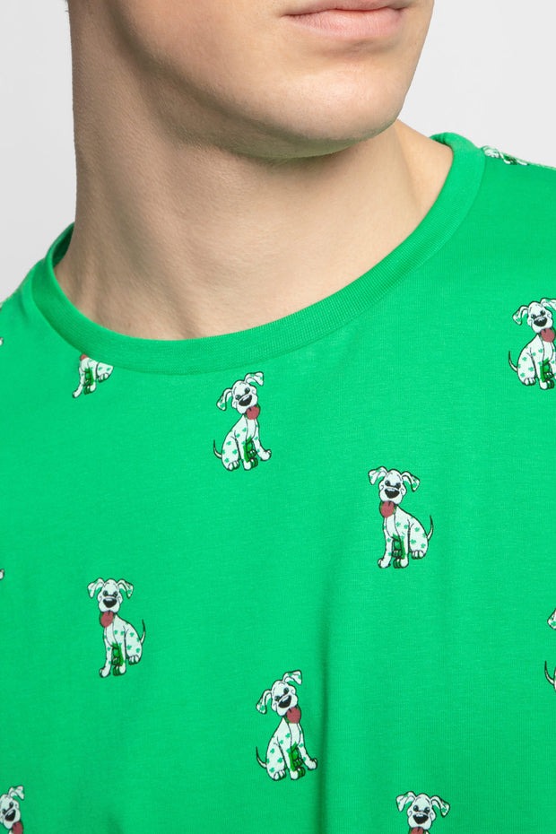 Green Shamrock Dog T-Shirt