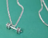 Necklace - Dumbell p The Styled Man Box The Styled Man Box - The Styled Man Box