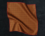 Pocket Square - Plaid Rust-Colored