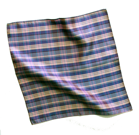 Pocket Square - Silk Purple Iridescent Plaid