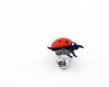 Lapel Pin - Rubber Lady Bug