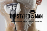 ManUp Hemp & Argan Foaming Shave Gel ManUp The Styled Man The Styled Man Box - The Styled Man Box
