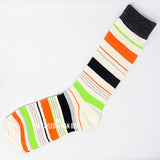 Men's Socks - Striped Black and Orange