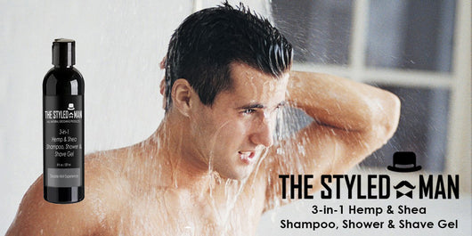 3-In-1 Hemp & Shea Shampoo, Shower and Shave Gel