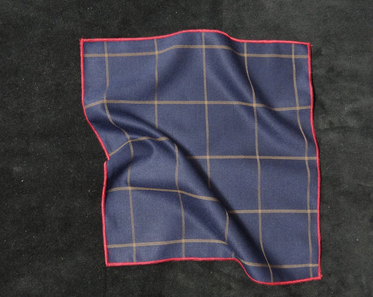 Pocket Square - Window Pane Blue