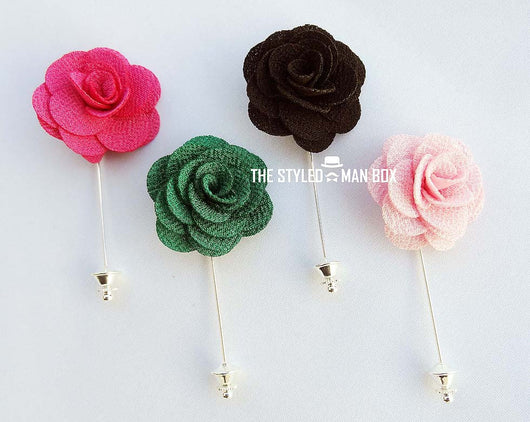Lapel Pin - Woven Sophisticated Flower