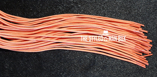 Shoe Strings (Laces) - Orange P The Styled Man Box The Styled Man Box - The Styled Man Box